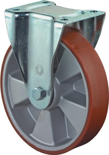300kg ohne Feststeller Gummi BS Rollen Schwerlast-Lenkrolle D 125mm Trgf
